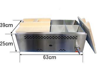 直火式ガスおでん鍋のサイズ
