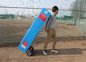 テントを運ぶ時にあると便利なアルミ製二輪台車